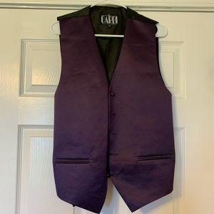 Purple men's satin vest